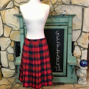 Vintage Briggs Plaid Pleated Skirt